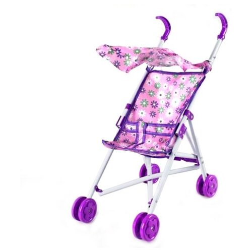 Прогулочная коляска Наша игрушка Хризантема 67253-1 фиолетовый/розовый игрушка