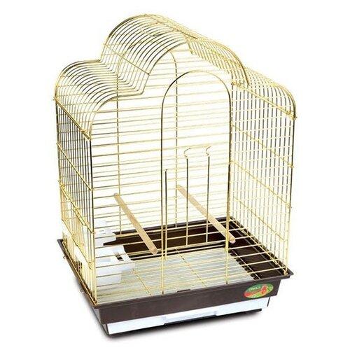 Клетка Triol 6113G 46.5х36х65см золотой/коричневый