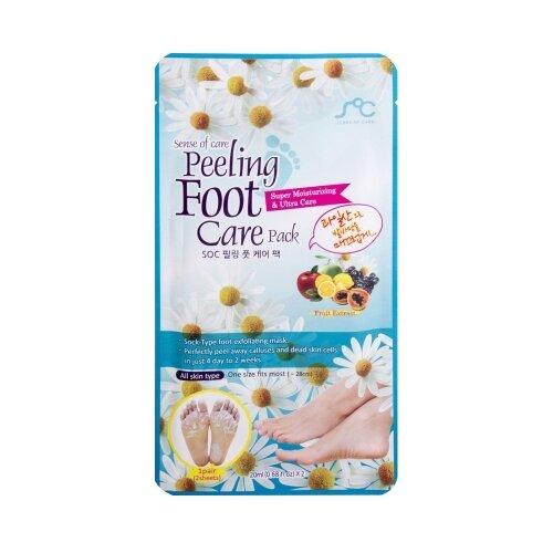 Фото - SOC Маска-носочки для пилинга ног 40 мл 30 г estelare foot peeling program маска отшелушивающая для ног педикюрные носочки 40 г