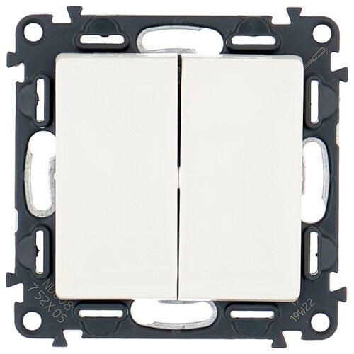 Выключатель 2х1-полюсный Legrand Valena Life 752405,10А, белый выключатель 2х1 полюсный legrand valena allure 752905 10а алюминиевый