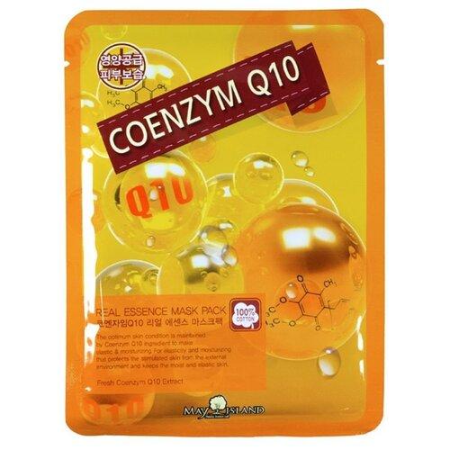 MAY ISLAND тканевая маска Real Essence Coenzym Q10 с коэнзимом Q10, 25 мл q10 liquid напиток концентрат 11мл 25 флаконы