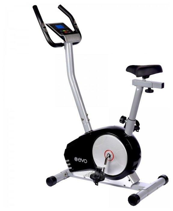 Вертикальный велотренажер Evo Fitness Crystal EL черный/серый