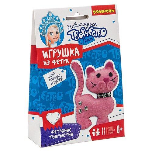 Купить Набор для творчества Bondibon Ёлочные игрушки из фетра своими руками. Кошка , Изготовление кукол и игрушек