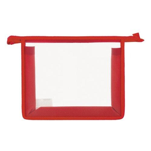 Пифагор Папка для тетрадей прозрачная, А5 красный обложка пвх для прописей горецкого и рабочих тетрадей пифагор прозрачная плотная 120 мкм 243х345 мм 224836