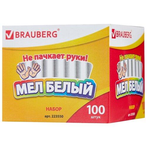 BRAUBERG Мел белый школьный 100 шт. (223550) белый