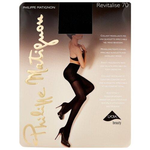 Колготки Philippe Matignon Revitalise 70 den, размер 5-MAXI-XL, nero (черный) колготки philippe matignon cristal 30 den размер 5 maxi xl glace бежевый