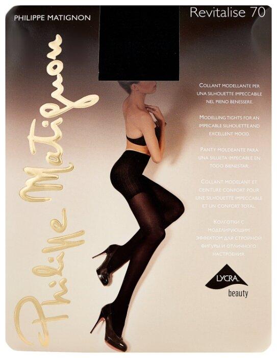 Колготки Philippe Matignon Revitalise 70 den, размер 5-MAXI-XL, nero (черный)