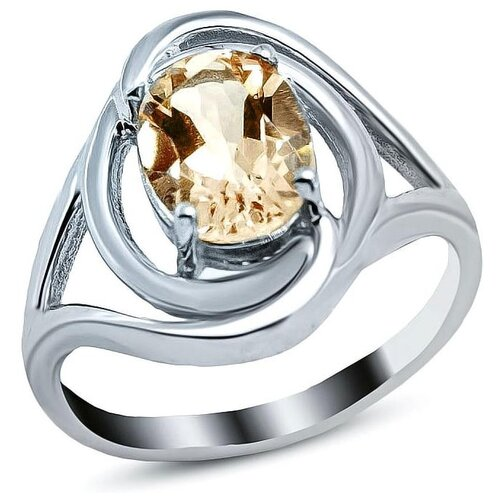 Silver WINGS Кольцо с цитринами из серебра 21vsefa01384-19, размер 16.5 кольцо silver wings