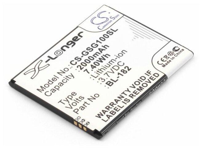 Аккумулятор Cameron Sino CS-GSG100SL для GSmart Sierra S1