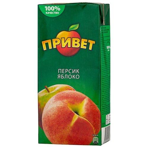 Напиток сокосодержащий Привет Яблоко-Персик, 0.95 л