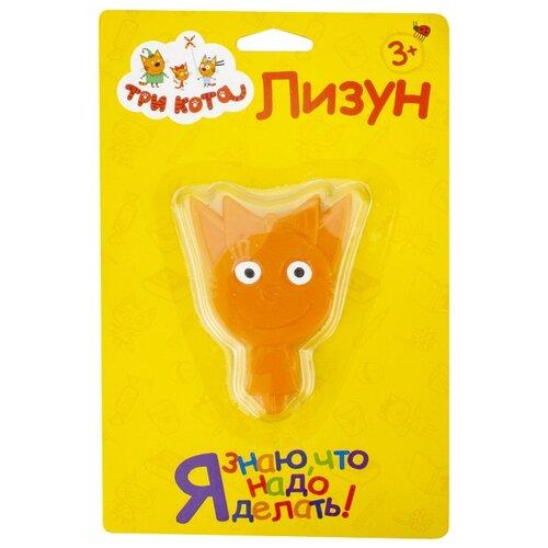 Купить Лизун 1 TOY Три кота Карамелька Т16659 оранжевый, Игрушки-антистресс