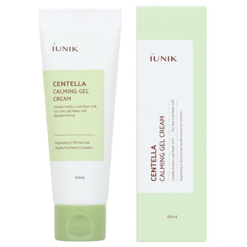 IUNIK Centella Calming Gel Cream Успокаивающий гель-крем для кожи лица с центеллой азиатской и чайным деревом, 60 мл chi luxury black seed oil curl defining cream gel