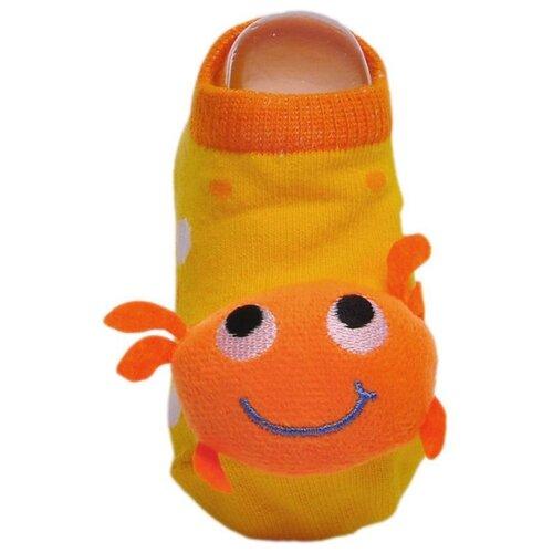 Купить Носки Lansa размер 18-20, желтый/оранжевый
