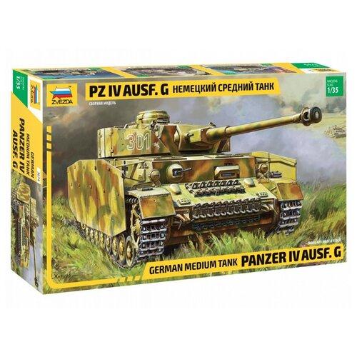 цена на Сборная модель ZVEZDA Немецкий средний танк Pz IV Ausf. G (3674) 1:35