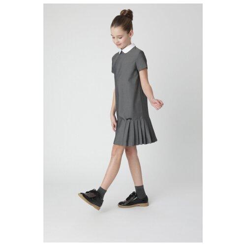 Платье Gulliver размер 128, серый платье oodji ultra цвет красный белый 14001071 13 46148 4512s размер xs 42 170