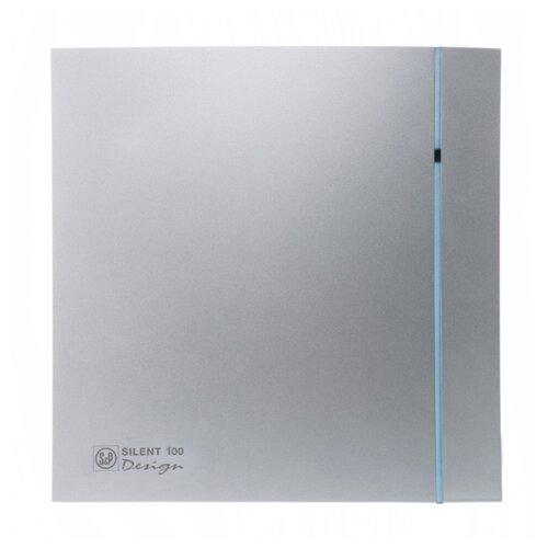 Вытяжной вентилятор Soler & Palau SILENT-100 CZ DESIGN, silver 8 Вт