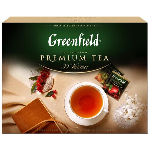 Чай Greenfield Selection of 30 Greenfield varieties ассорти в пакетиках подарочный набор , 120 шт. фото