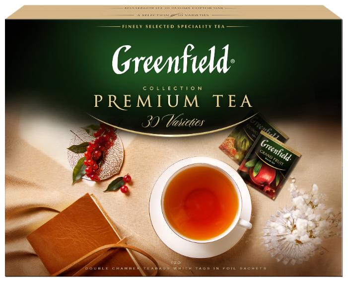 Чай Greenfield Selection of 30 Greenfield varieties ассорти в пакетиках подарочный набор — купить по выгодной цене на Яндекс.Маркете