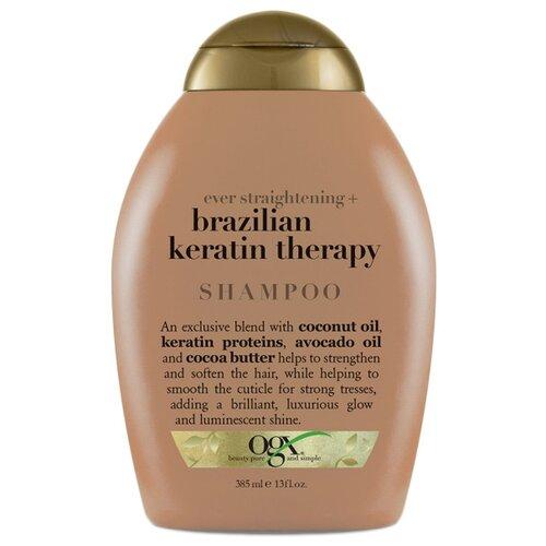 OGX шампунь Ever Straightening+ Brazilian Keratin разглаживающий и укрепляющий 385 мл 11 11 purc brazilian keratin 12