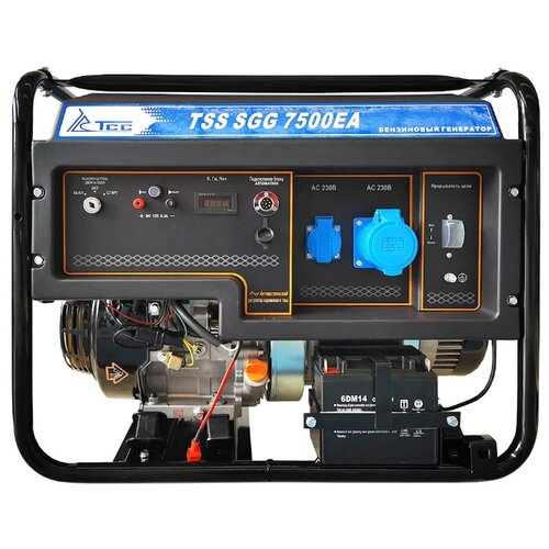 Фото - Бензиновый генератор ТСС SGG 7500ЕA (7500 Вт) бензиновый генератор тсс sgg 5000 eh 5000 вт
