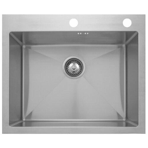 Фото - Врезная кухонная мойка 60 см Seaman ECO Marino SMV-600.B матовая нержавеющая сталь врезная кухонная мойка 60 5 см granmill 024 24чер черный