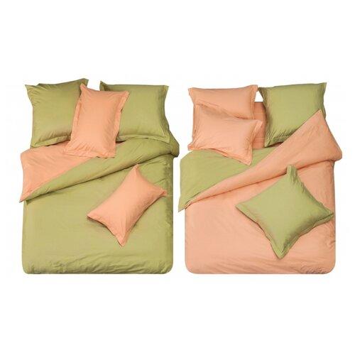 цена Постельное белье 2-спальное СайлиД L-10, сатин розовый/зеленый онлайн в 2017 году
