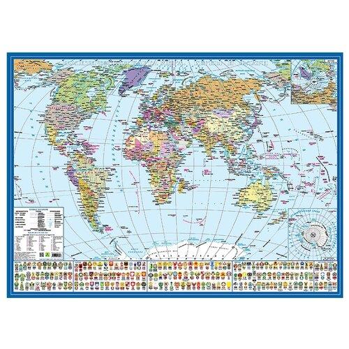 РУЗ Ко Политическая карта мира Гербы и флаги (Кр573п)