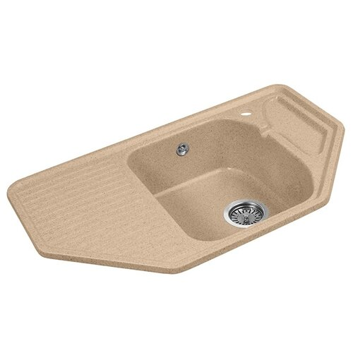 Фото - Врезная кухонная мойка 79.5 см А-Гранит M-10 песочный врезная кухонная мойка 61 см а гранит m 09 песочный