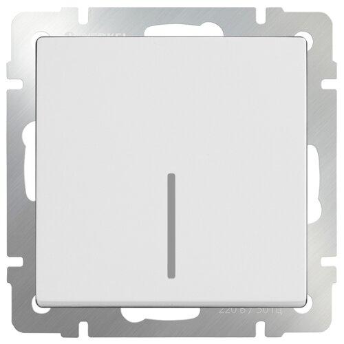 Выключатель 1-полюсный Werkel WL01-SW-1G-2W-LED,10А, белый выключатель 1 полюсный werkel wl06 sw 1g 2w led 10а серебристый