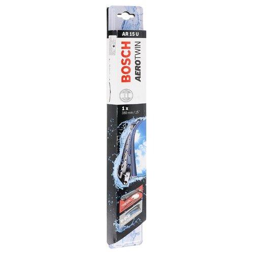 Щетка стеклоочистителя бескаркасная Bosch Aerotwin AR15U 380 мм, 1 шт. bosch щетка стеклоочистителя bosch бескаркасная 65 см 1 шт
