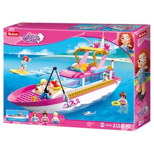Купить Конструктор SLUBAN Розовая мечта M38-B0722 Яхта, Конструкторы