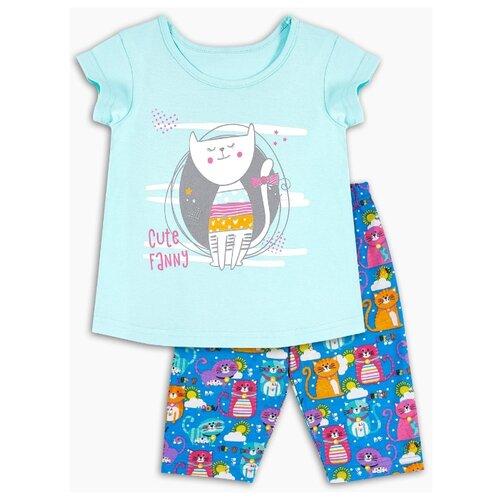 Пижама Веселый Малыш размер 104, мятный/синий пижама веселый малыш размер 104 розовый