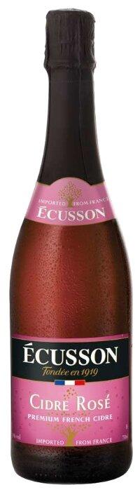 Сидр яблочный Ecusson Rose сладкий, 0.75 л