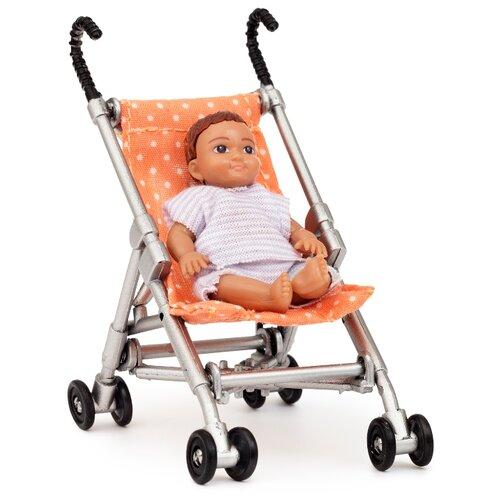 Купить Кукла для домика Lundby Малыш в коляске, 60500100, Куклы и пупсы