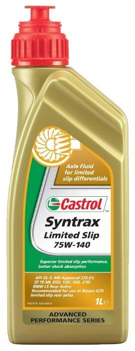 """Масло трансмиссионное Castrol """"Syntrax Limited Slip"""", синтетическое, для мостов, класс вязкости 75W-140, 1 л"""