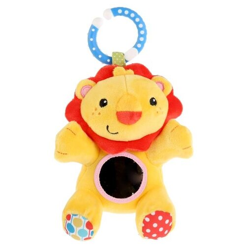 Купить Подвесная игрушка Fisher-Price Лев (GH73096) желтый/красный, Подвески