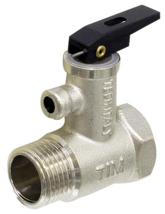 Предохранительный клапан со свободным истечением Tim BL5812 муфтовый (ВР/НР), латунь, 7 бар, Ду 15 (1/2