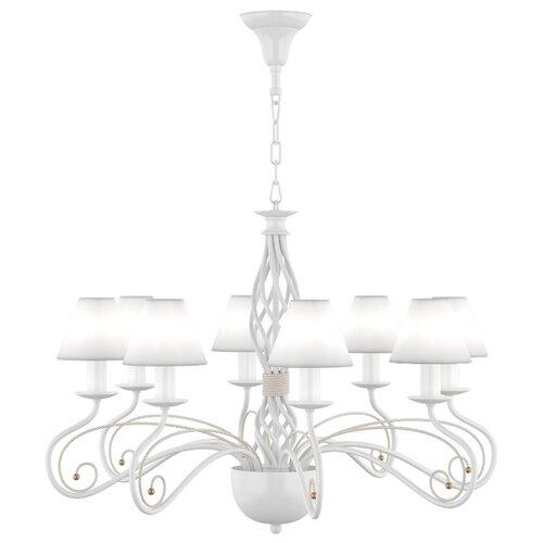 люстра lightstar esedra 796153 Люстра Lightstar Esedra 782080, E14, 320 Вт, кол-во ламп: 8 шт., цвет арматуры: белый, цвет плафона: белый