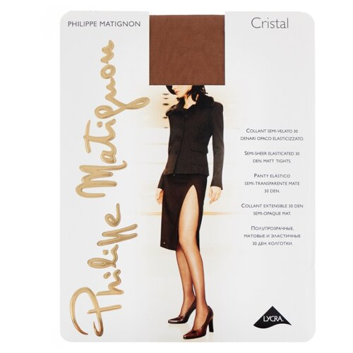 Колготки Philippe Matignon Cristal 30 den, размер 5-MAXI-XL, cognac (коричневый) колготки philippe matignon cristal 30 den размер 5 maxi xl glace бежевый