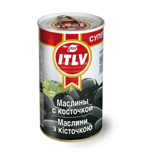 ITLV Маслины с косточкой, жестяная банка 350 г 370 мл бояринъ маслины с косточкой жестяная банка 314 мл