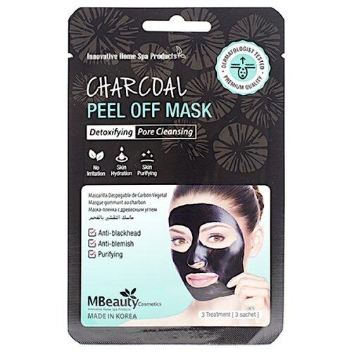 Mbeauty маска-пленка Charcoal Peel Off с древесным углем для очищения пор, 21 г, 3 шт. маска пленка с углем для носа farmstay charcoal black head peel off nose pack 60гр