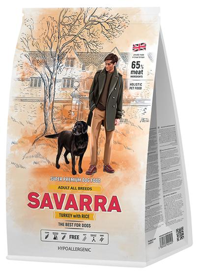 Корм для собак SAVARRA индейка с рисом