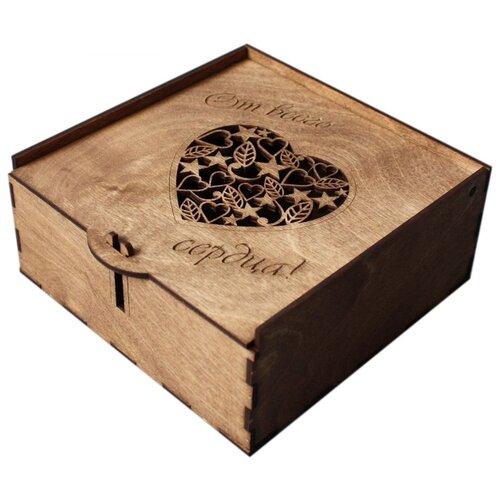 Коробка подарочная ArtandWood От всего сердца тик