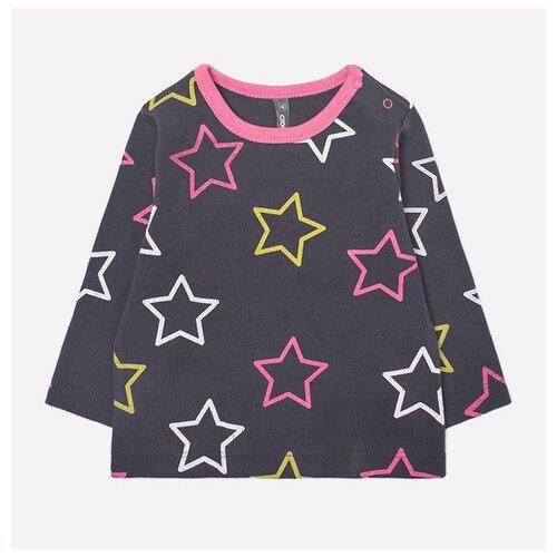 Купить Лонгслив crockid размер 68, серый/розовый, Футболки и рубашки