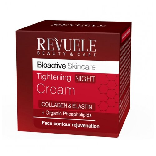 Revuele ночной подтягивающий крем для лица Bioactive Skincare Collagen + Elastin, 50 мл christina collagen elastin