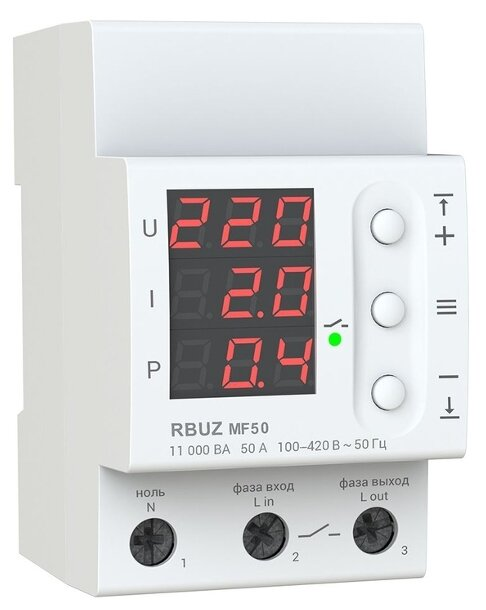 Реле контроля напряжения RBUZ MF 50
