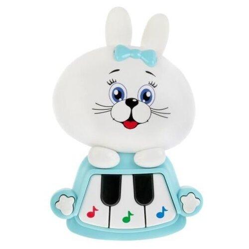 развивающая игрушка умка обучающее пианино м дружинина разноцветный Развивающая игрушка Умка Обучающее пианино, белый/голубой