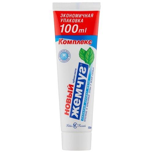 Зубная паста Новый Жемчуг Комплекс Сильный аромат мяты, 100 мл