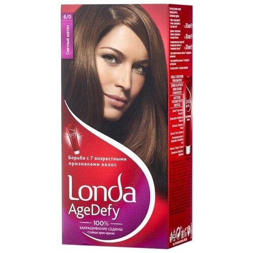 Londa Age Defy стойкая крем-краска для волос, 6/0 светлый шатен краска д волос londa age defy 2 0 черный