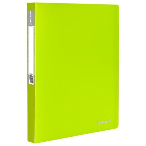 Купить BRAUBERG Папка на 2 кольцах Neon А4, 25 мм зеленая, Файлы и папки